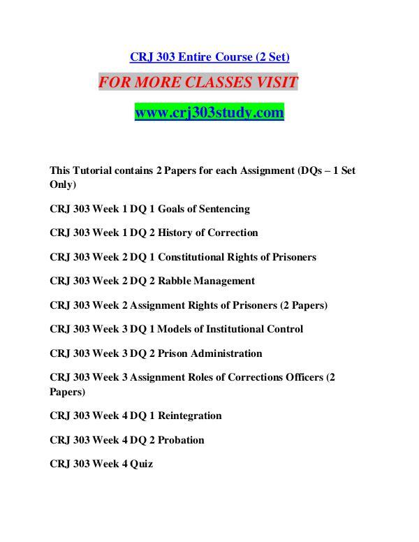 crj 303 corrections an introduction