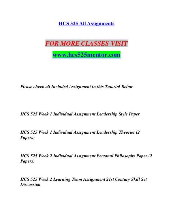 leadership styles hcs 525