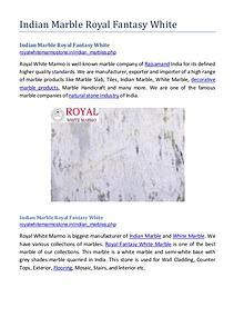 Indian Marble Royal Fantasy White