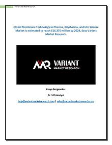 Membrane Technology in Pharma, Biopharma, And Life Science Market