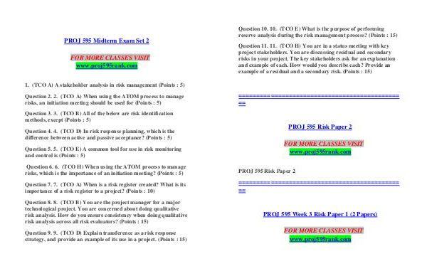 proj595 risk paper