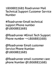 18008833685 Roadrunner Mail Technical Support Customer Service Number