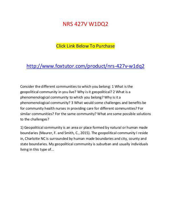 nrs 427v topic 1 dq 1