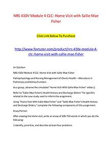 NRS 410V Module 4 CLC Home Visit with Sallie Mae Fisher (2)