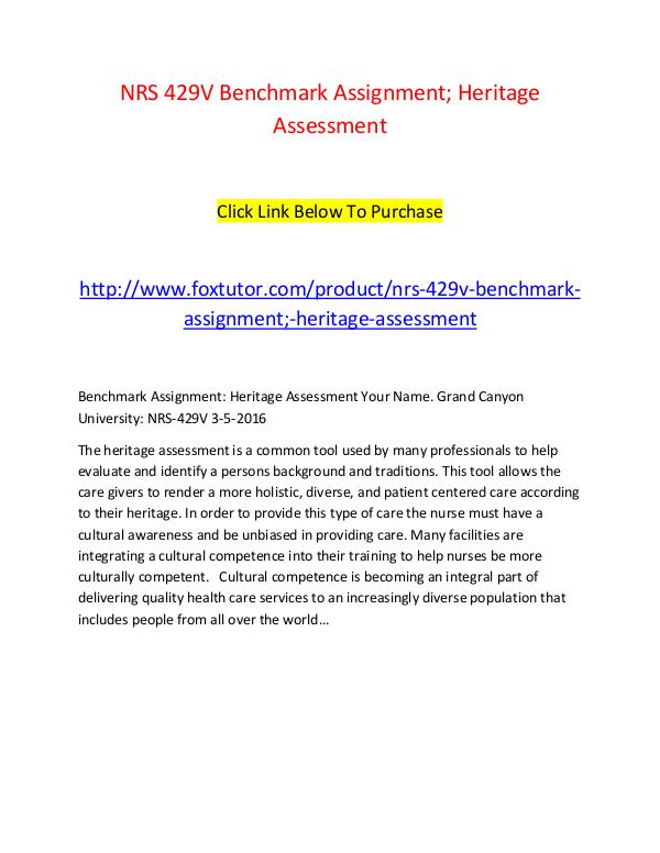 the heritage assessment tool