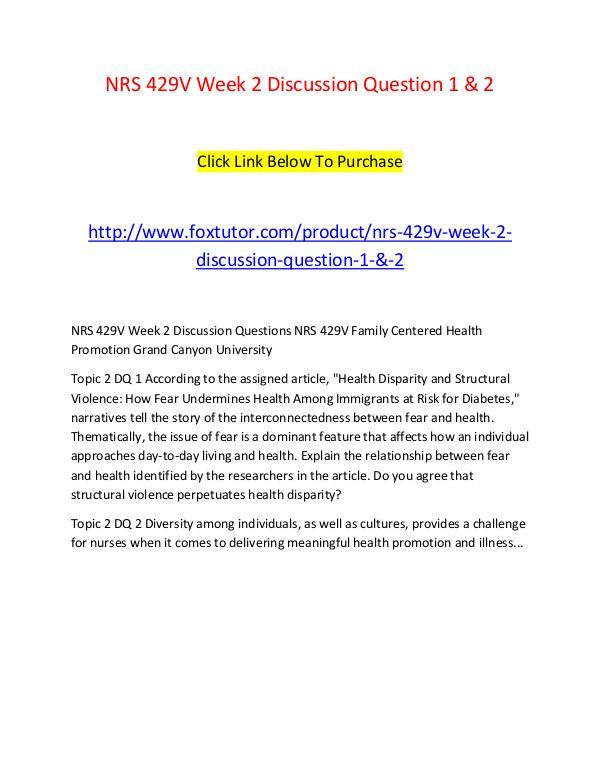 vark analysis nrs 429v family centered health promotion