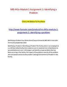 module one assignment