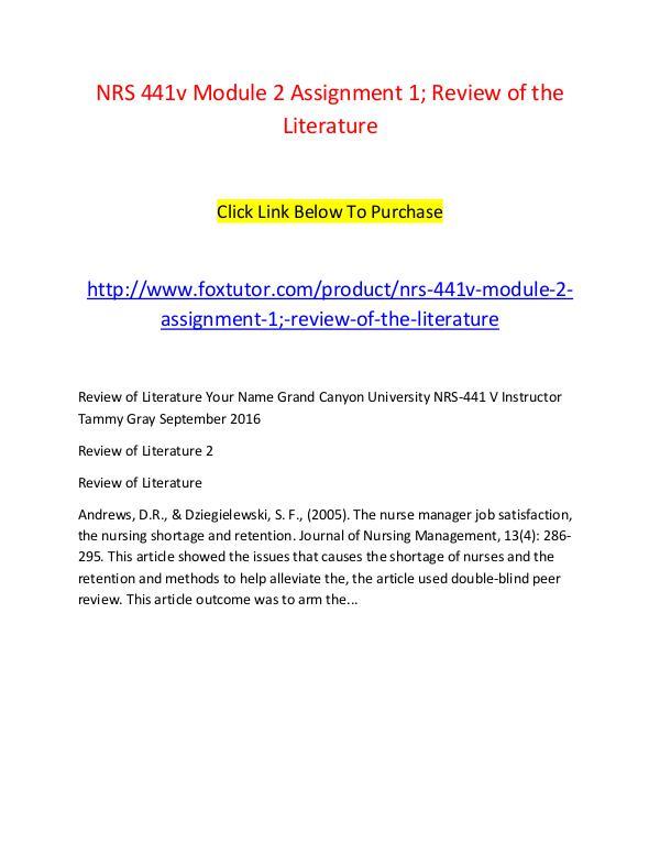 Literature review topics in nursing     Apreender American Nurses Association