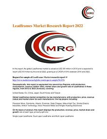 Leadframes Market Analysis, Segment, Trends and Forecasts 2017