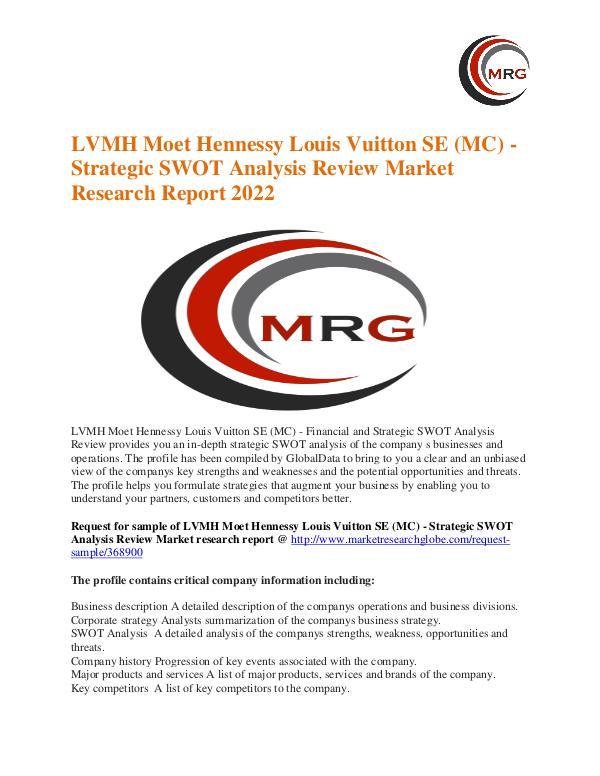 Lvmh Moet Hennessy Louis Vuitton Se Mc  Strategic Swot Analysis