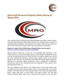 Solar Gold Pearlescent Pigment Market Growth, Size, Trends and Region