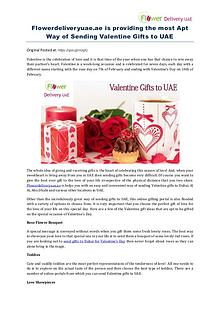 Flowerdeliveryuae.ae is providing the most Apt Way of Sending Valenti