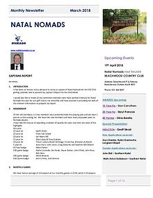 NATAL NOMADS Golf Club Monthly issue February 2018