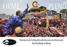 Firme y pleno. Nicolas Maduro desde las camaras de Miraflores
