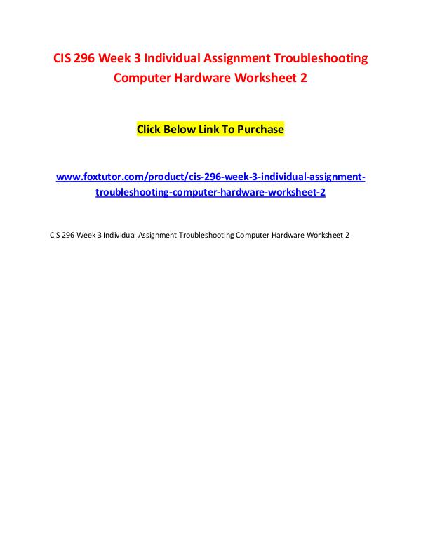 cis333 assignment 1 View homework help - cis 333 week 4 assignment 1 identifying potential malicious attacks from cis 333 at strayer running head: assignment 2 1 assignment 2: identifying potential risk, response, and.