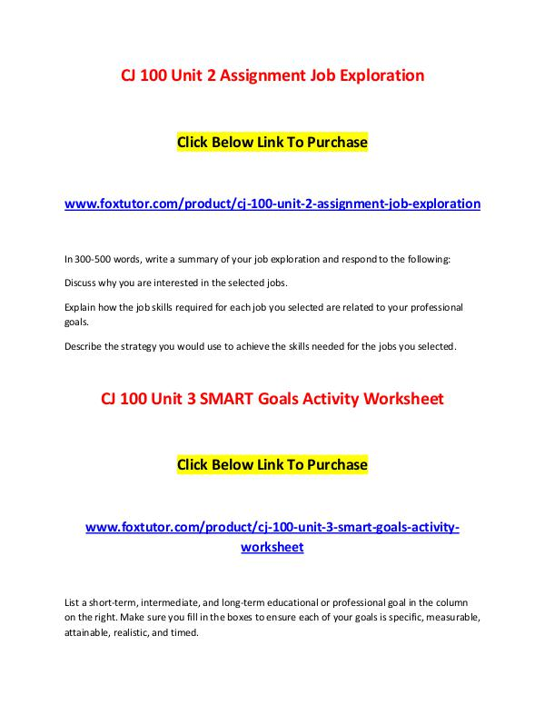 kaplan cj100 unit 4 assignment