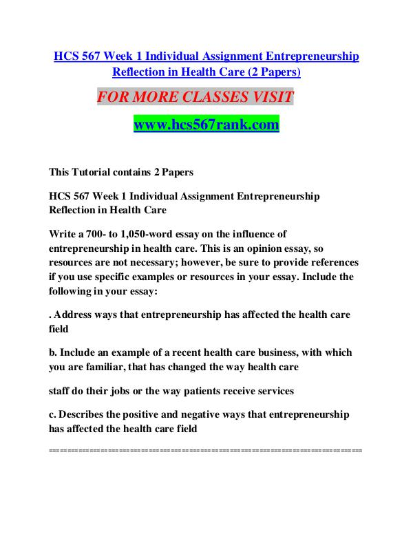 entrepreneurship marketing paper hcs 567 Entrepreneurship marketing hcs 567 (4 pages | 1747 words) entrepreneurship marketing marketing is a fundamental step when launching a new venture to determine if it will be successful is very important to complete a study of the market gaps in a particular industry to know whether or not a product or service is needed and how and.