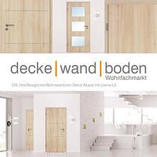 dwb Wohnraumtüren CPL Holz Design Line mit Lisenen L3 Akazie