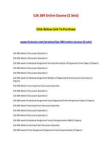 CJA 384 Entire Course (2 Sets)