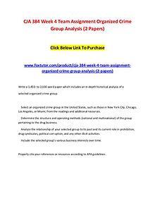 CJA 384 Week 4 Team Assignment Organized Crime Group Analysis (2 Pape