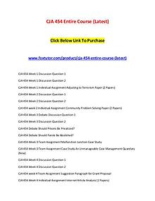 CJA 454 Entire Course (Latest)