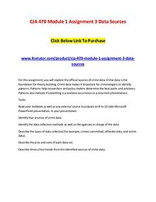 CJA 470 Module 1 Assignment 3 Data Sources