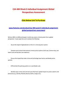 CJA 484 Week 5 Individual Assignment Global Perspectives Assessment