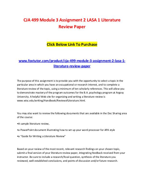 apa style literature review