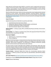Blood Gas and Electrolyte Analyzer Market Grow CAGR 5.11% 2017-2022