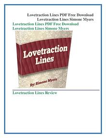 Simone Myers: Lovetraction Lines PDF Free Download