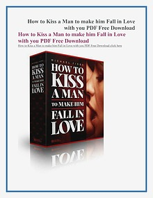 How To Kiss A Man To Make Him Fall In Love PDF Free Download