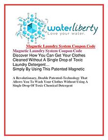 Waterliberty Magnetic Laundry System Coupon Code