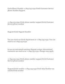 Circle phone number +1.844.235.0341 Circle customer service Number