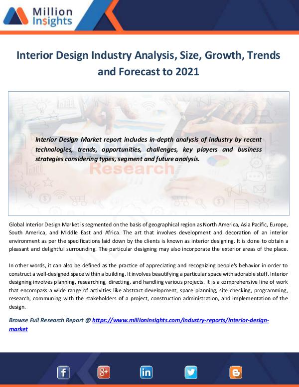 Market News Today Interior Design Industry Analysis, Size, Growth, T