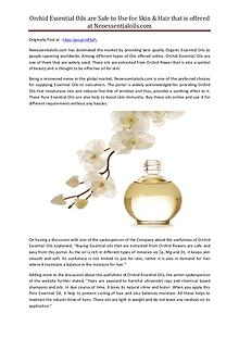 Orchid Essential Oils are Safe to Use for Skin & Hair that is offered