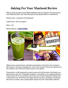 Juicing For Your Manhood PDF / Recipes Book Free Download