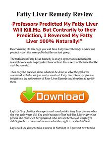 Fatty Liver Remedy Natural / PDF eBook Free Download