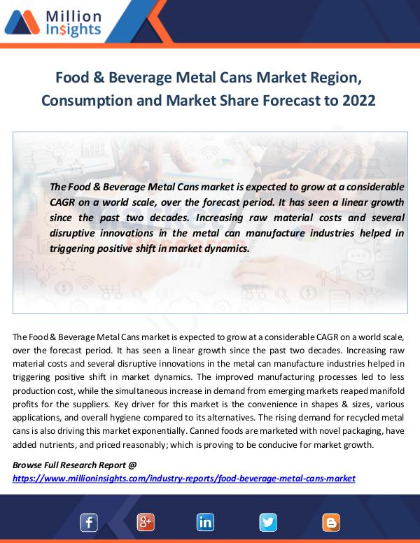 food and beverage metal can market