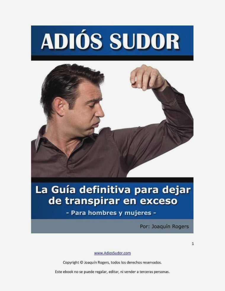 BASTA DE SUDOR PDF GRATIS Descargar Adios Sudor Gratis