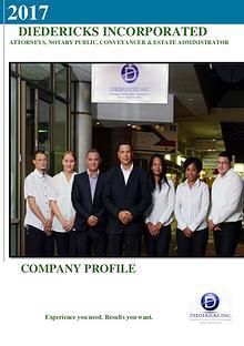 Diedericks Inc. Company Profile