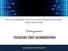 Thyroid Test Morristown