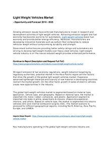 Light Weight Vehicles Market 2017