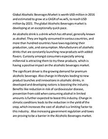 Market Data Forecast Releases New Report on Global Alcoholic Beverage
