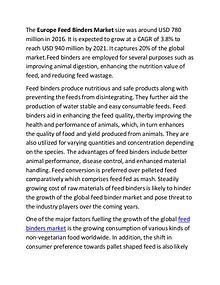 Europe Feed Binders Market