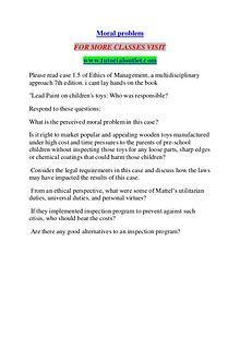 MORAL PROBLEM / TUTORIALOUTLET DOT COM