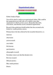 ORGANIZATIONAL CULTURE / TUTORIALOUTLET DOT COM