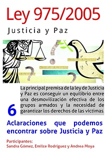 LEY 975/2005  JUSTICIA Y PAZ