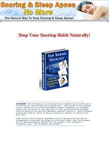 Snoring & Sleep Apnea No More PDF / Book Free Download