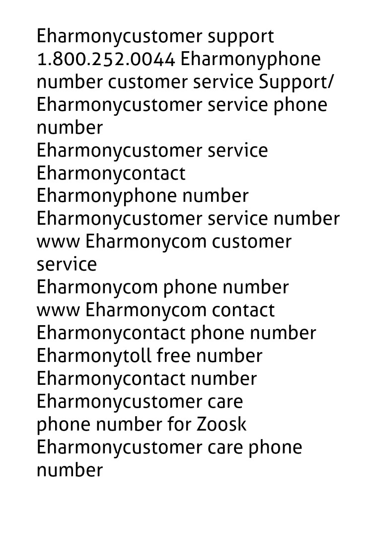 Eharmony customer support phone number