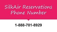 silkair reservation number 1-888-206-5328
